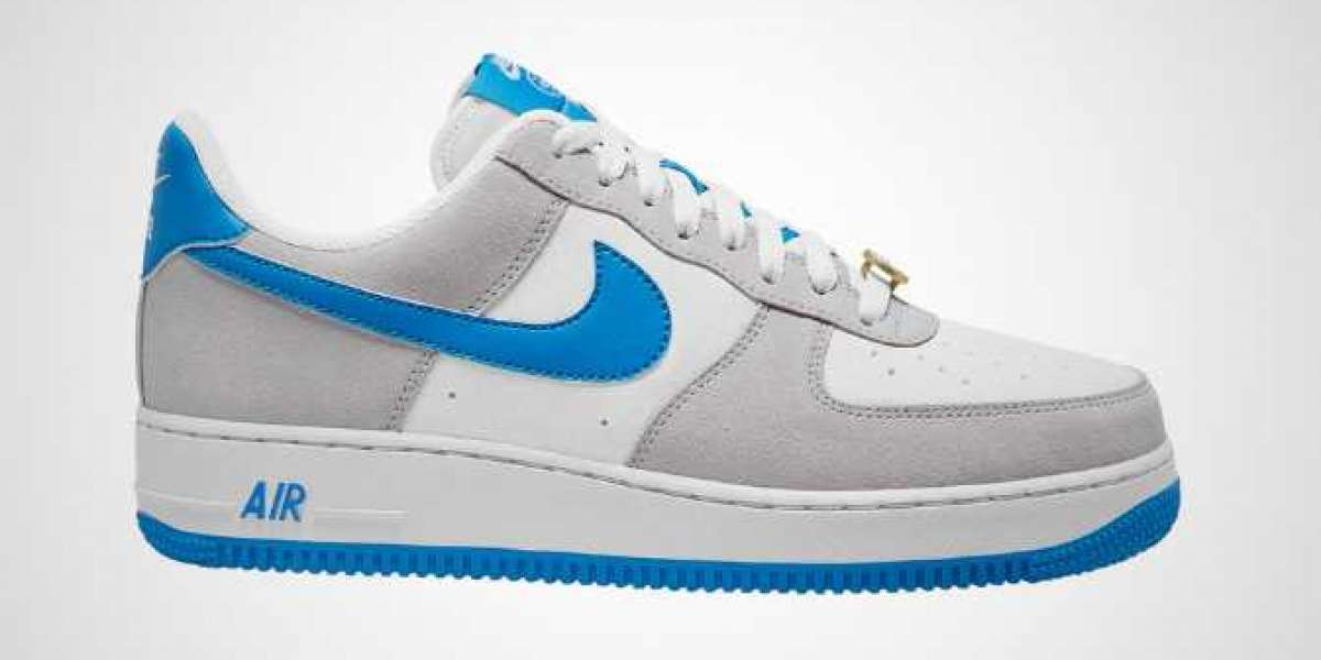 Latest Nike Air Force 1 '07 LV8 EMB Light Photo Blue-White for Sale