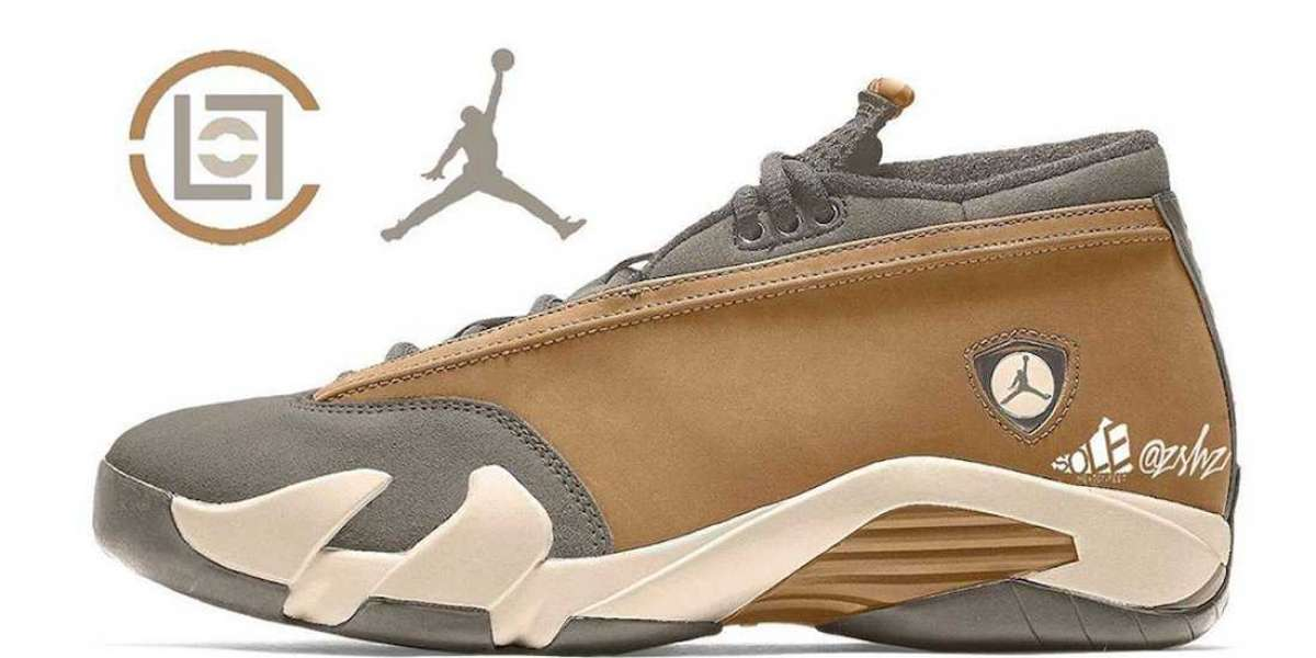 "Latest 2021 Clot x Air Jordan 14 Low ""Sepia Stone"" DC9857-200"