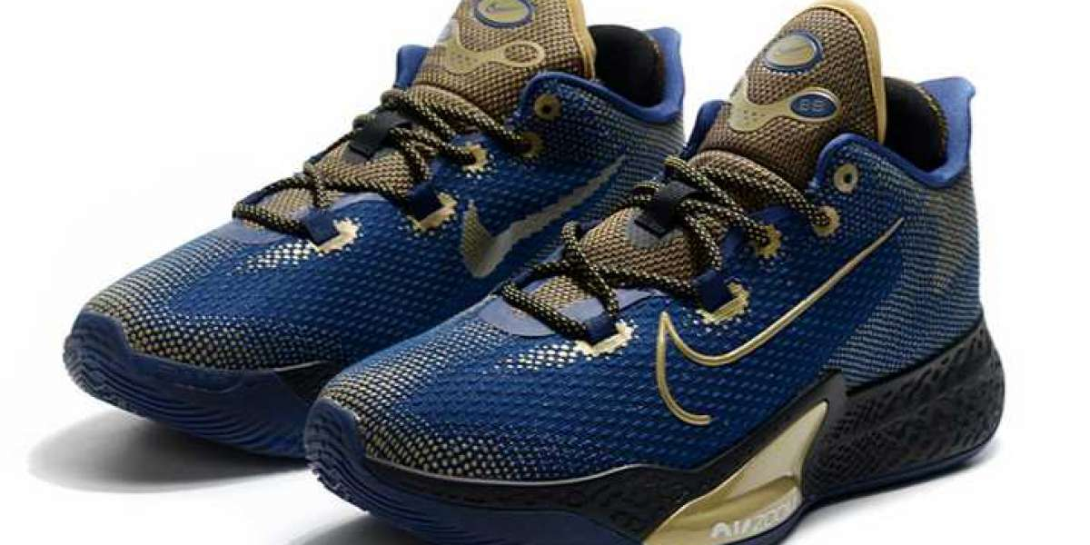 Science and technology lifestyle, Nike Air Zoom BB NXT Navy / Metallic Gold-Black 2020 New Released.
