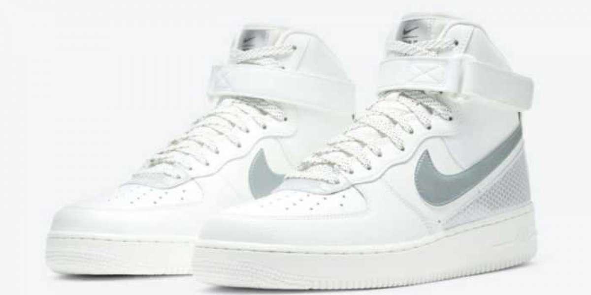 3M x Nike Air Force 1 High White/Metallic Silver/Black 2020 CU4159-100