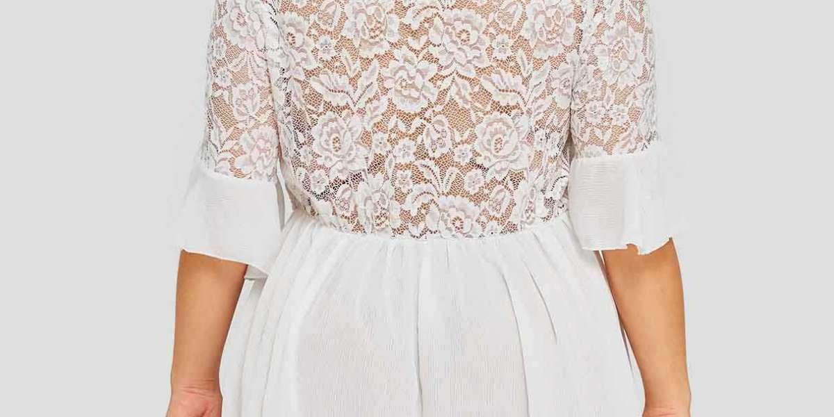 Floral Print Half Sleeve Irregular Slit Hem Plus Size Tops
