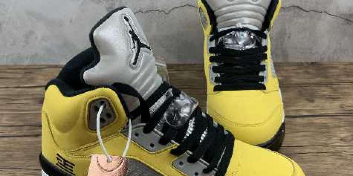 Air Jordan 5 Retro White Colorful Sneakers