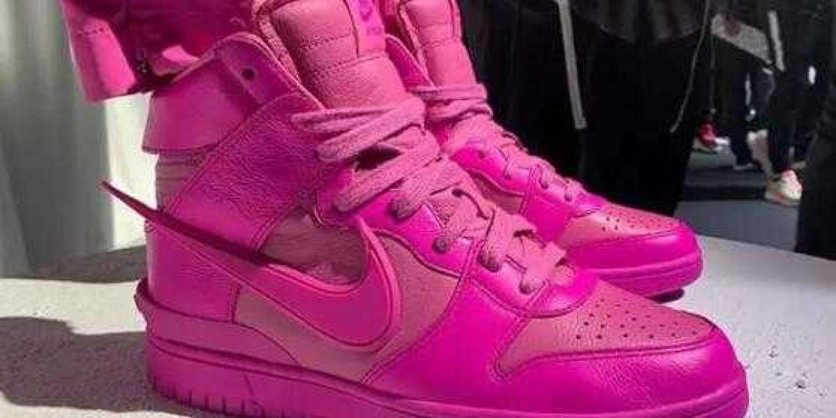 CU7544-600 AMBUSH x Nike Dunk High Lethal Pink to Arrive Soon