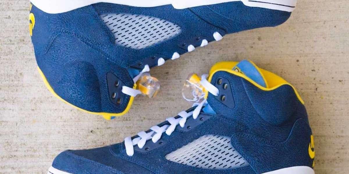 "Brand New Air Jordan 5 ""Marquette"" PE Basketball Shoes"