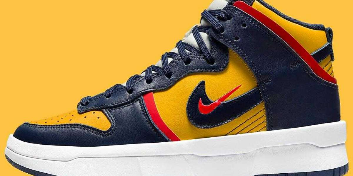 Latest Nike Dunk High Rebel Twists Coming With Classic Michigan Colorway